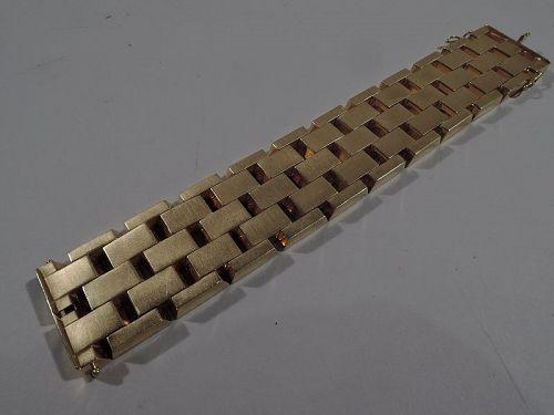 Gorgeous American Retro 18K Yellow Gold Chain Links Bracelet