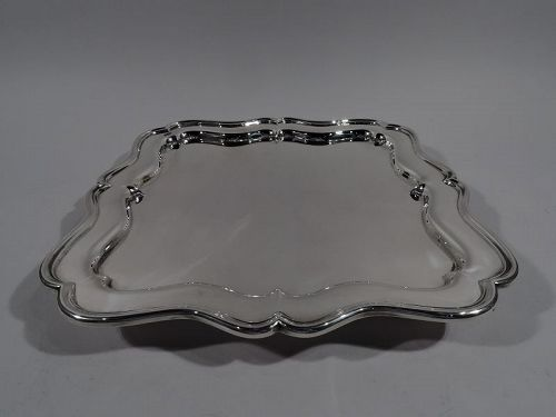 Antique Cartier English Sterling Silver Footed Tray 1912