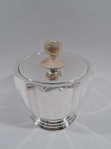 Buccellati Italian Modern Hand Hammered Sterling Silver Ice Bucket