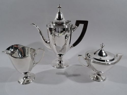 Tiffany American Classical Sterling Silver 3-Piece Coffee Set