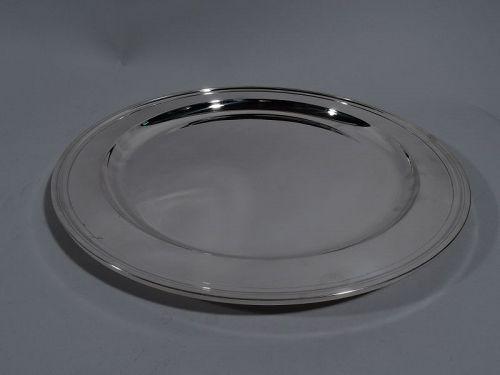 Tiffany Modern Sterling Silver 12-Inch Serving Tray