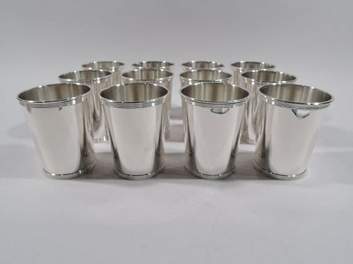 Set of 12 Alvin American Sterling Silver Mint Julep Cups