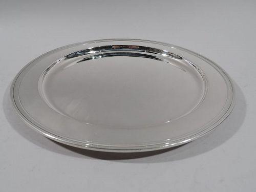 Tiffany Modern Sterling Silver 10-Inch Round Serving Tray