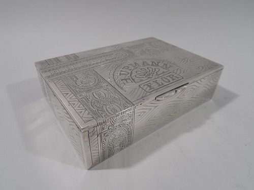 Antique Russian Silver Novelty Trompe-l�Oeil Box for Cuban Cigars