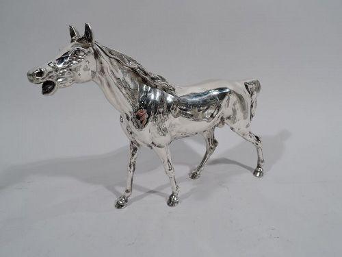 Antique German Silver Horse Figure