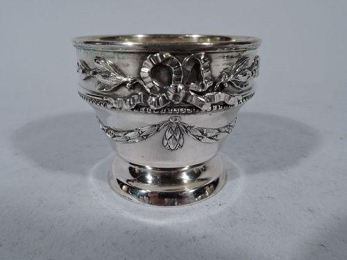 Antique Austrian Classical Silver Open Salt