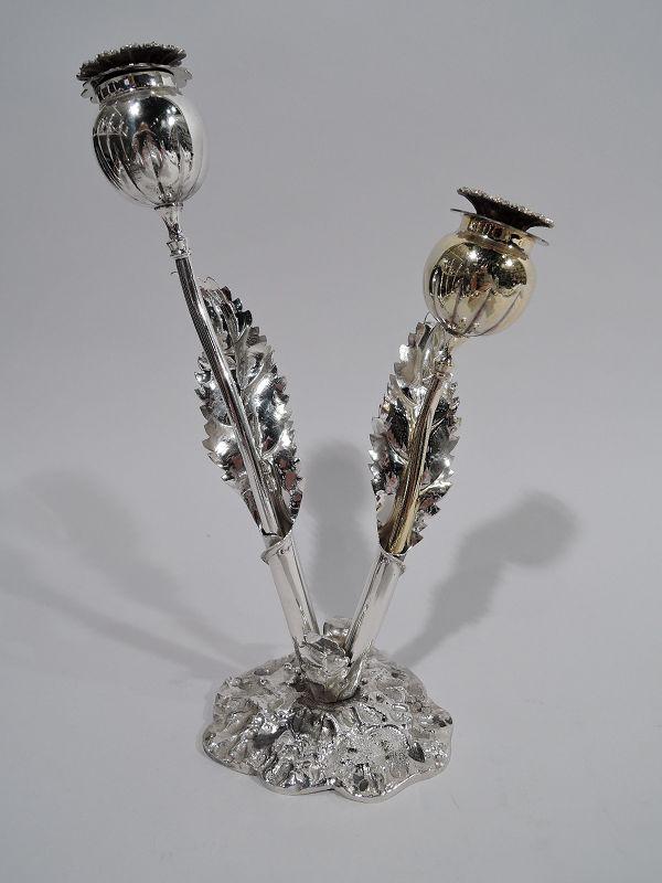 Buccellati Modern Figural Stem Flower Salt & Pepper Shakers