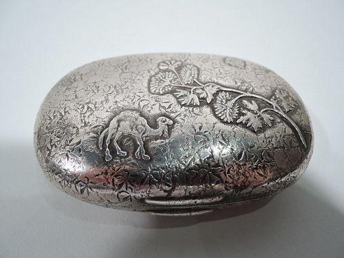 Antique Gorham Japonesque Sterling Silver Soap Box 1884