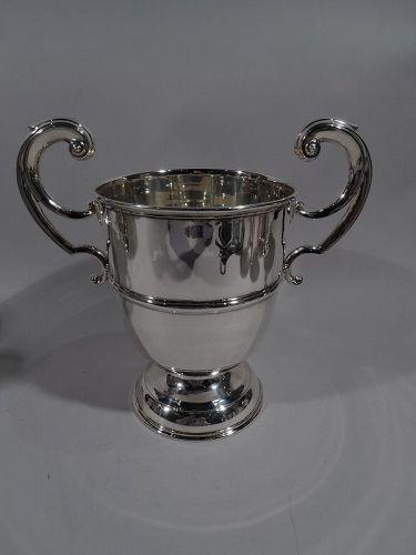 Irish Edwardian Georgian Classical Sterling Silver Urn Trophy Cup 1906