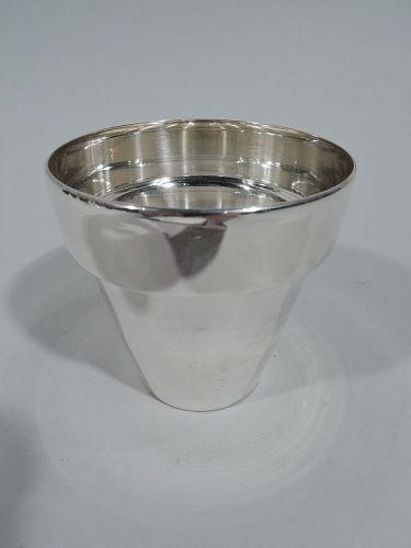 Tiffany Modern Sterling Silver Flower Pot Vase