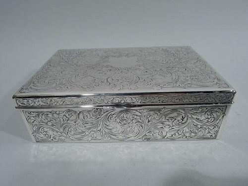Reed & Barton Edwardian Art Nouveau Sterling Silver Box