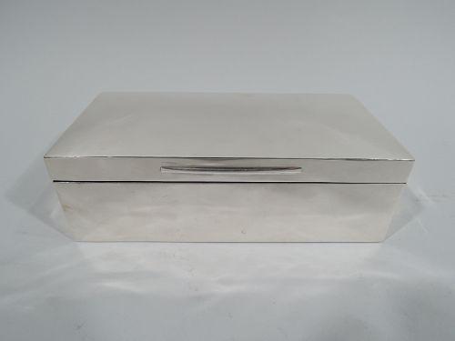 English Victorian Modern Sterling Silver Box 1897