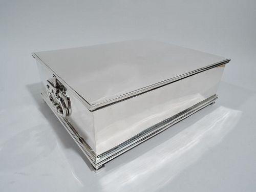 Tiffany Large Modern Sterling Silver Deed & Will Treasury Box