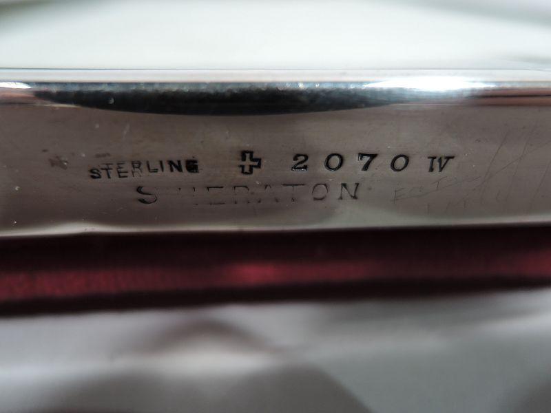 Antique American Edwardian Regency Sterling Silver Picture Frame