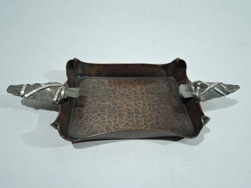 Edwardian Mixed Metal Copper Arrowhead Vide-Poche  by Heinrich