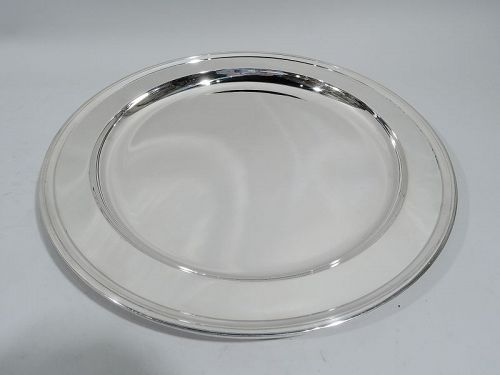 Tiffany Modern Deep and Heavy Sterling Silver Tray