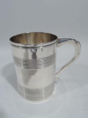 Large English Georgian Sterling Silver Mug 1795