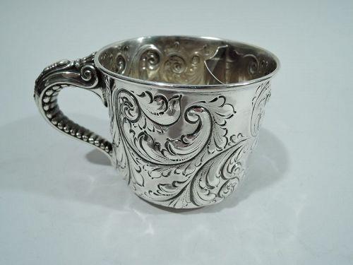 Antique Gorham Victorian Sterling Silver Shaving Mug