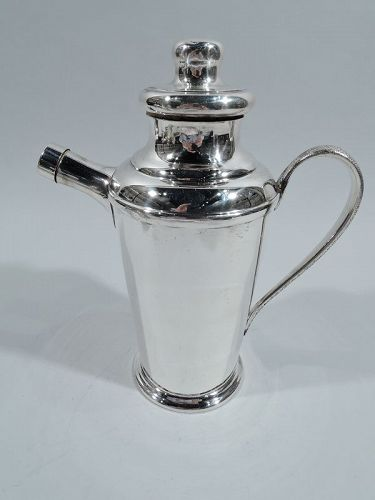 South American Midcentury Modern Sterling Silver Cocktail Shaker