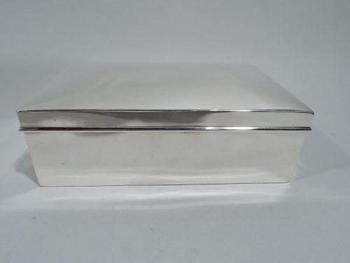 Tiffany American Modern Sterling Silver Box