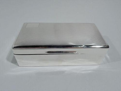 Antique English Art Deco Sterling Silver Box 1939