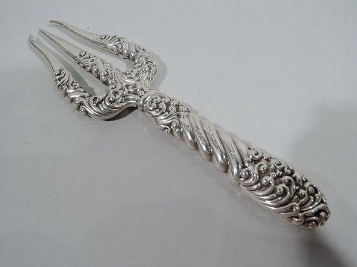 Antique Gorham Art Nouveau Sterling Silver Toasting Fork