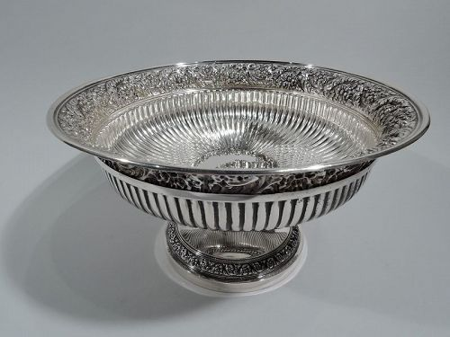 Stylish Tiffany Sterling Silver Centerpiece Compote