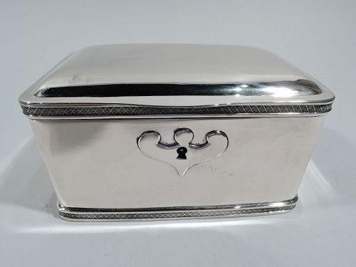 Antique Austrian Biedermeier Classical Silver Sugar Box 1836