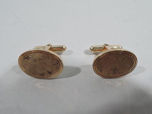 Classic Tiffany American 14k Gold Cufflinks