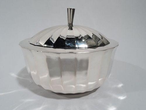 Antique Austrian Modern Classical Silver Box C 1925