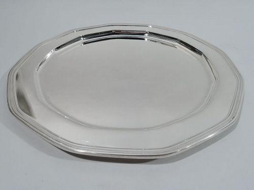 Antique Tiffany Art Deco Sterling Silver Tray