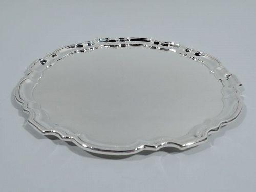Tiffany Large & Heavy Sterling Silver Georgian Piecrust Tray