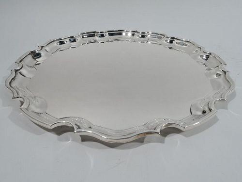 Tiffany Sterling Silver Tray with Georgian-Style Piecrust Rim