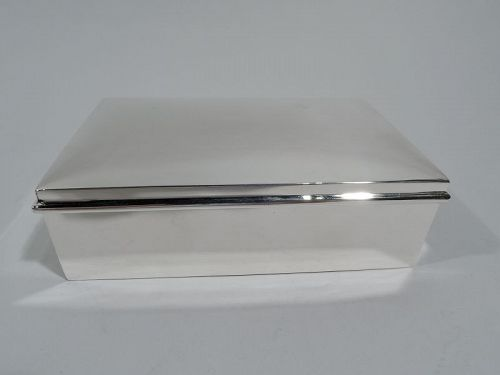 JE Caldwell American Midcentury Modern Sterling Silver Box