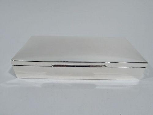 American Midcentury Modern Sterling Silver Box