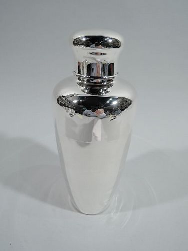 Tiffany Midcentury Modern Sterling Silver Cocktail Shaker