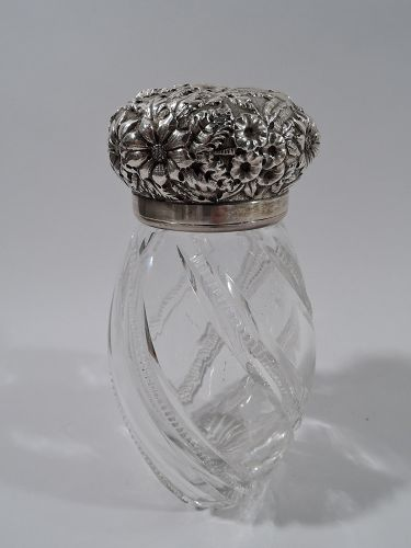 Antique Baltimore Sterling Silver & Cut Glass Sugar Caster