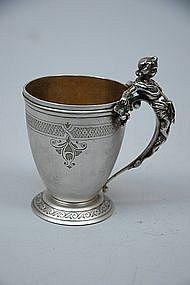 Gorham American Antique Coin Silver Cup Circa 1865