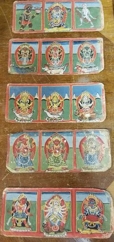FIVE 18/19 CENTURY LEAVES FROM A NEPALESE HINDU MANUSCRIPT