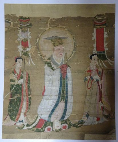 MING DYNASTY PAINTING OF A COURT OR DAOIST OFFICIAL