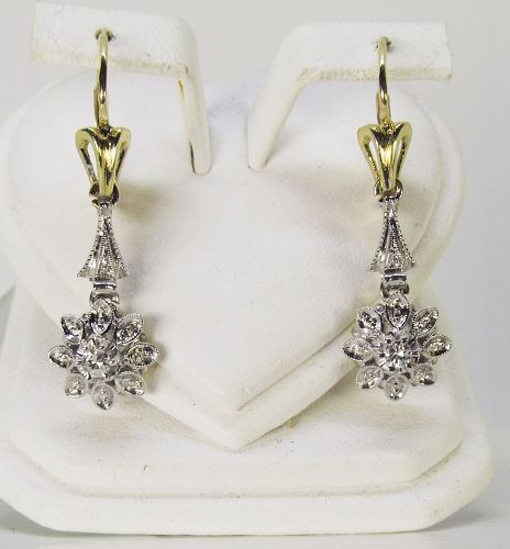 18Kt Gold and Diamond Hanging Earrings