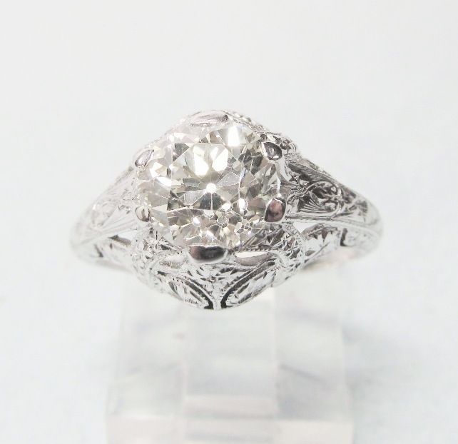 Diamond Engagement Ring 1.70 Ct Vintage 1920-s