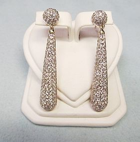 Tears of Joy Gold and Diamond Earrings