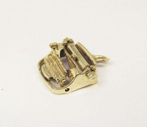 Vintage 14Kt Gold Typewriter Charm