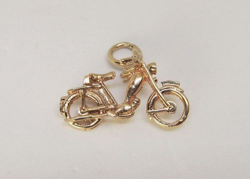 Vintage 14Kt Gold Motorcycle Charm