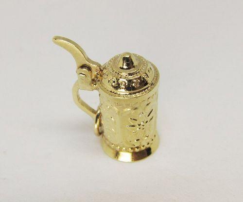 Vintage 14Kt Gold Tankard / Stein Charm