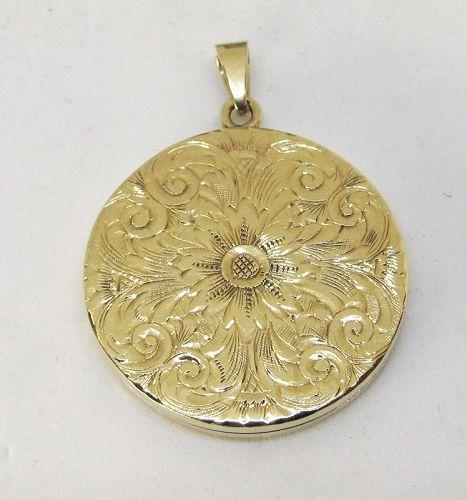 Gold Locket, 14Kt Gold Pendant