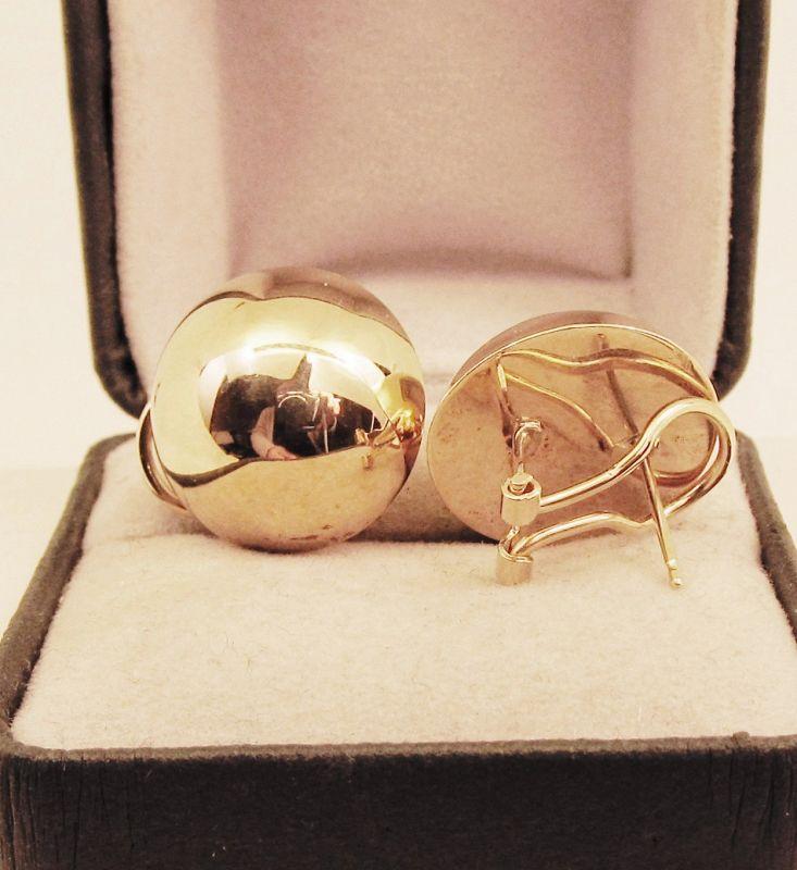Dome Earrings 14Kt Gold
