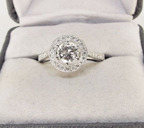 Diamond Engagement Ring 18Kt White Gold