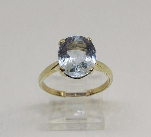 Blue Topaz ring 14Kt Gold